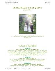 LE MARIAGE, C'EST QUOI ? - Documents bibliques