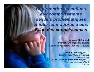 Comprendre les enfants aux comportements sexuels ...