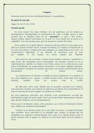 L'impact Extrait du texte tiré du livre de Mostafa Massid ... - Luciole.ch