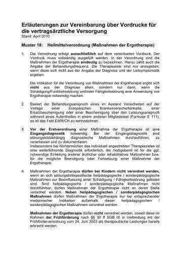Vereinbarung über Vordrucke Für Die Vertragsärztliche Versorgung