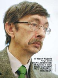 Dr Wojciech Matusewicz: – Politycy powinni zrozumieć, że ... - AOTM