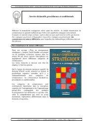 Savoirs déclaratifs, procéduraux et conditionnels - SeGEC