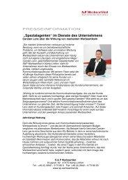 """""""Spezialagenten"""" im Dienste des Unternehmens - S&P Werbeartikel"""