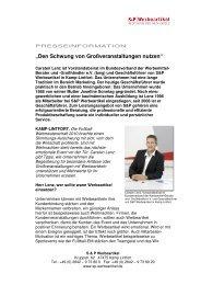 """""""Den Schwung von Großveranstaltungen nutzen"""" - S&P Werbeartikel"""