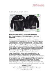 Dichterwettstreit in coolen Klamotten - S&P Werbeartikel