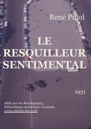le resquilleur sentimental - Bibliothèque numérique romande