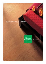GUIDE PRATIQUE DU PARQUET - Margaritelli S.p.A.