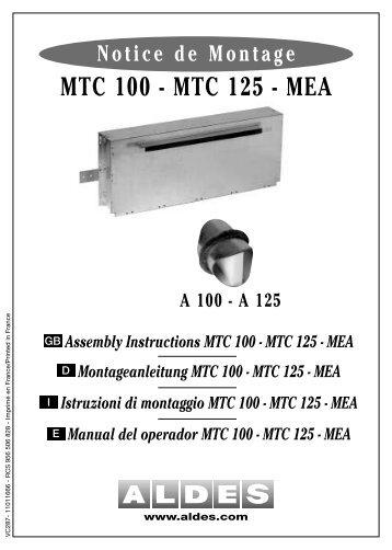 MTC 100 - MTC 125 - MEA - Aldes