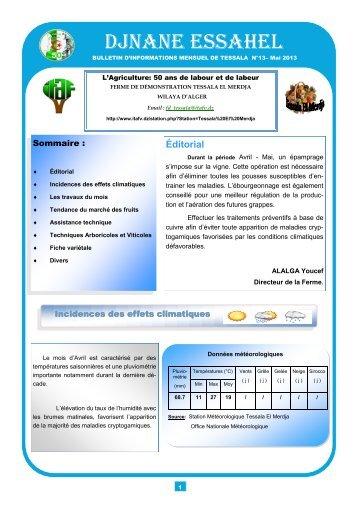DJNANE ESSAHEL - Institut Technique de l'Arboriculture Fruitière et ...