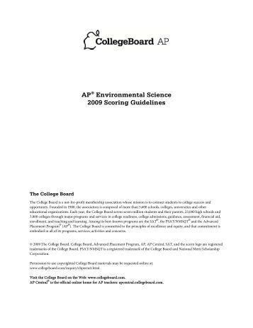 ap central environmental science essays