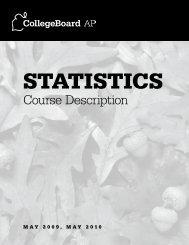 2009, 2010 AP Statistics Course Description - AP Central - College ...