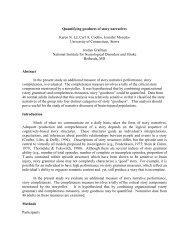 Quantifying goodness of story narratives Karen N. Lê ... - Aphasiology