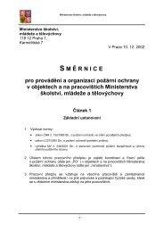 S M Ě RNICE - Ministerstvo školství, mládeže a tělovýchovy