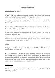Programma d'esame e Bibliografia paleografia greca