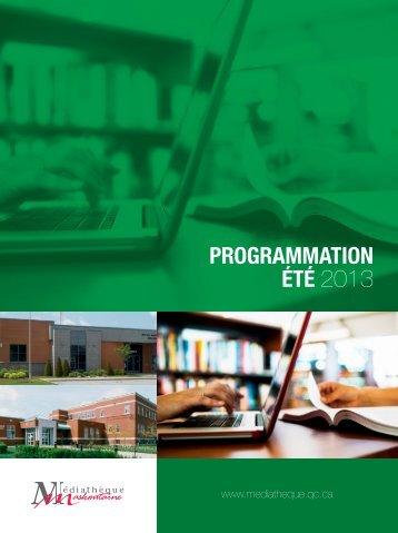 Programmation ÉtÉ 2013 - Médiathèque maskoutaine