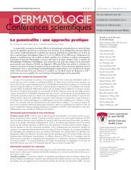 La panniculite : une approche pratique - Dermatologie conférences ...