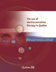 The use of electroconvulsive therapy in Quebec - INESSS