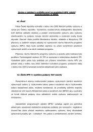 Zpráva o zahájení a průběhu prací na projektech NPV, jejichž ...
