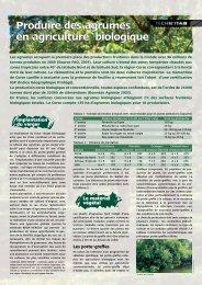 Produire des agrumes en agriculture biologique Produire des ... - Itab