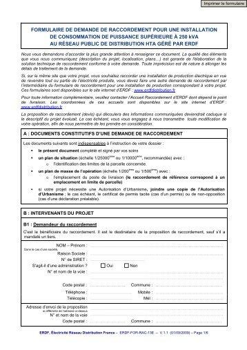 formulaire raccordement erdf