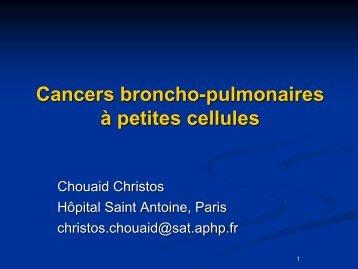 Cancers broncho-pulmonaires à petites cellules