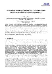 Modélisation thermique d'une batterie Li-ion prismatique de grande ...
