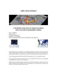Constitution d'une base de données localisées pour une étude de ...