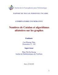 Nombres de Catalan et algorithmes aléatoires sur les graphes - IFI