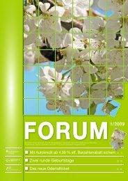FORUM 1/2009 - Stadtwerke Schwedt GmbH