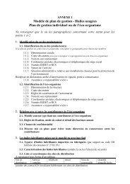 Huiles usagées Plan de gestion individuel ou de l ... - Province sud