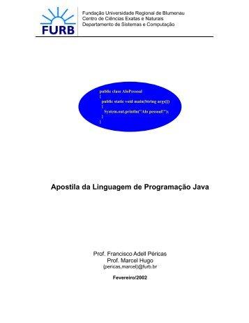 Apostila da Linguagem de Programação Java - Apostilas
