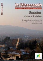 Le Talançonnais Dossier - Mairie de Reyrieux