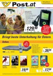 Bringt beste Unterhaltung für Ostern. - Österreichische Post AG
