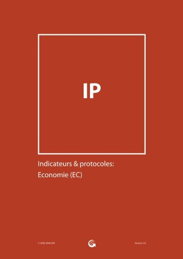 Indicateurs & protocoles: Economie - Global Reporting Initiative