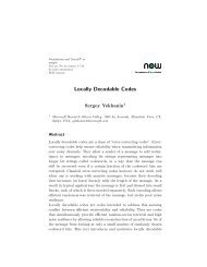 Locally Decodable Codes - Microsoft Research