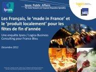 Les Français, le 'made in France' et le 'produit localement ... - Ipsos