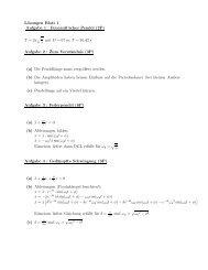 Lösungen Blatt 1 Aufgabe 1 : Foucault'sches Pendel (2P) T = 2π ...