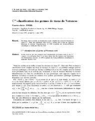 COQ-classification des germes de tissus de Veronese