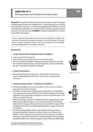 ArbeitsblAtt 19 Das Märchen von der Ausländerkriminalität