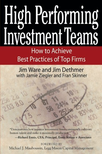 High Performing Investment Teams - CFA Institute