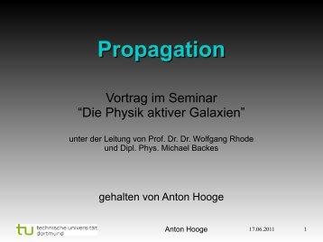 08) Anton Hooge: Propagation (pdf) - TU Dortmund