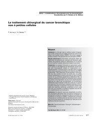 Le traitement chirurgical du cancer bronchique non à petites cellules