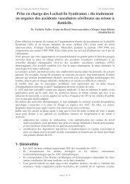Prise en charge des Locked-In Syndromes : du traitement en ... - ALIS