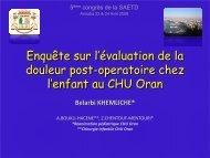 B.Khemliche - Société Algérienne d'Evaluation et de Traitement de ...