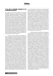 Lettres - Revue Médecine Tropicale