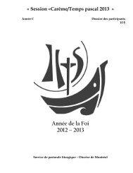 Dossier Carême-Temps pascal 2013 - Diocèse de Montréal