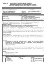 3 BTS ASSISTANT DE GESTION DE PME-PMI - SESSION 2011 ...