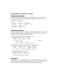 Übungsaufgaben zu Kapitel 4 / Lösungen
