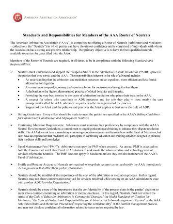 American arbitration association essay