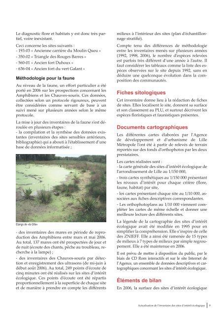 Actualisation de l'inventaire des sites d'intérêt écologique